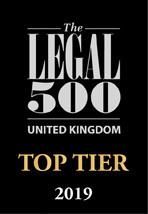 UK top tier firm 2017 black